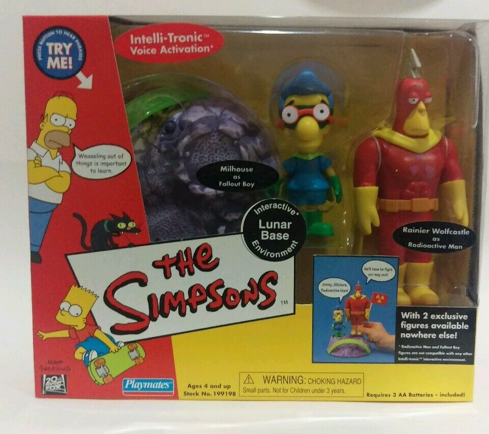 Simpsons WOS WOS WOS Set Radioactive Man Fallout Boy Lunar Base Moonscape Collectable c4d874