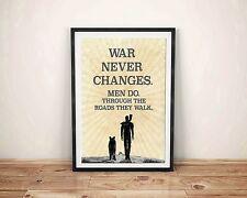 Fallout 4 Art Poster War Never Changes Video Game Gift Print Pipboy Vault Boy