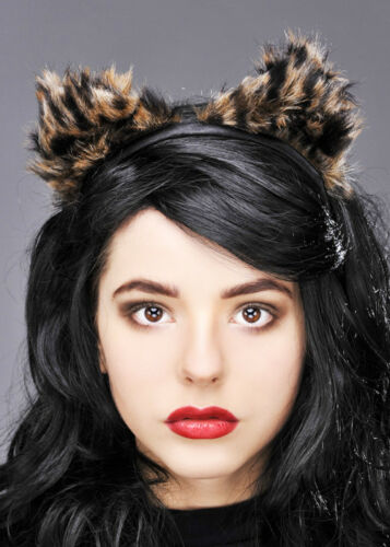 Furry Leopard Ears on Headband
