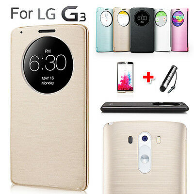 New Circle Flip Window Quick Cover for LG Optimus G3 Case F460 F400