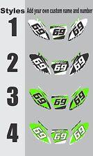 1988-1998 Kawasaki KX 500 Number Plates Side Panels Graphics Decal