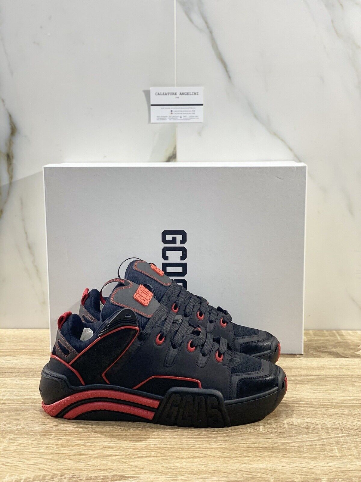 GCDS Skate Men Sneakers Black 10010 Luxury Casual GCDS Shoes 41