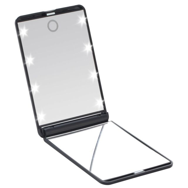 Miss Sweet Magnification Mirror with Sunction Cups Acrylic Suction Mirror Black
