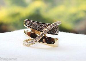 8f102c750 $3999 LEVIAN CHOCOLATE DIAMONDS 1 1/5 CT TW RING 14K HONEY GOLD sz ...