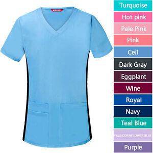 Women-039-s-Medical-Uniform-V-Neck-Scrub-Top