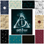 Harry Potter Cotton Fabric Material Deathly Hallows Metallic