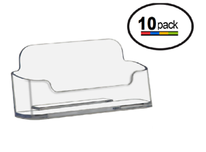 Clear-Acrylic-Plastic-Business-Card-Holders-Deflecto-Rounded-edge-lot-of-10