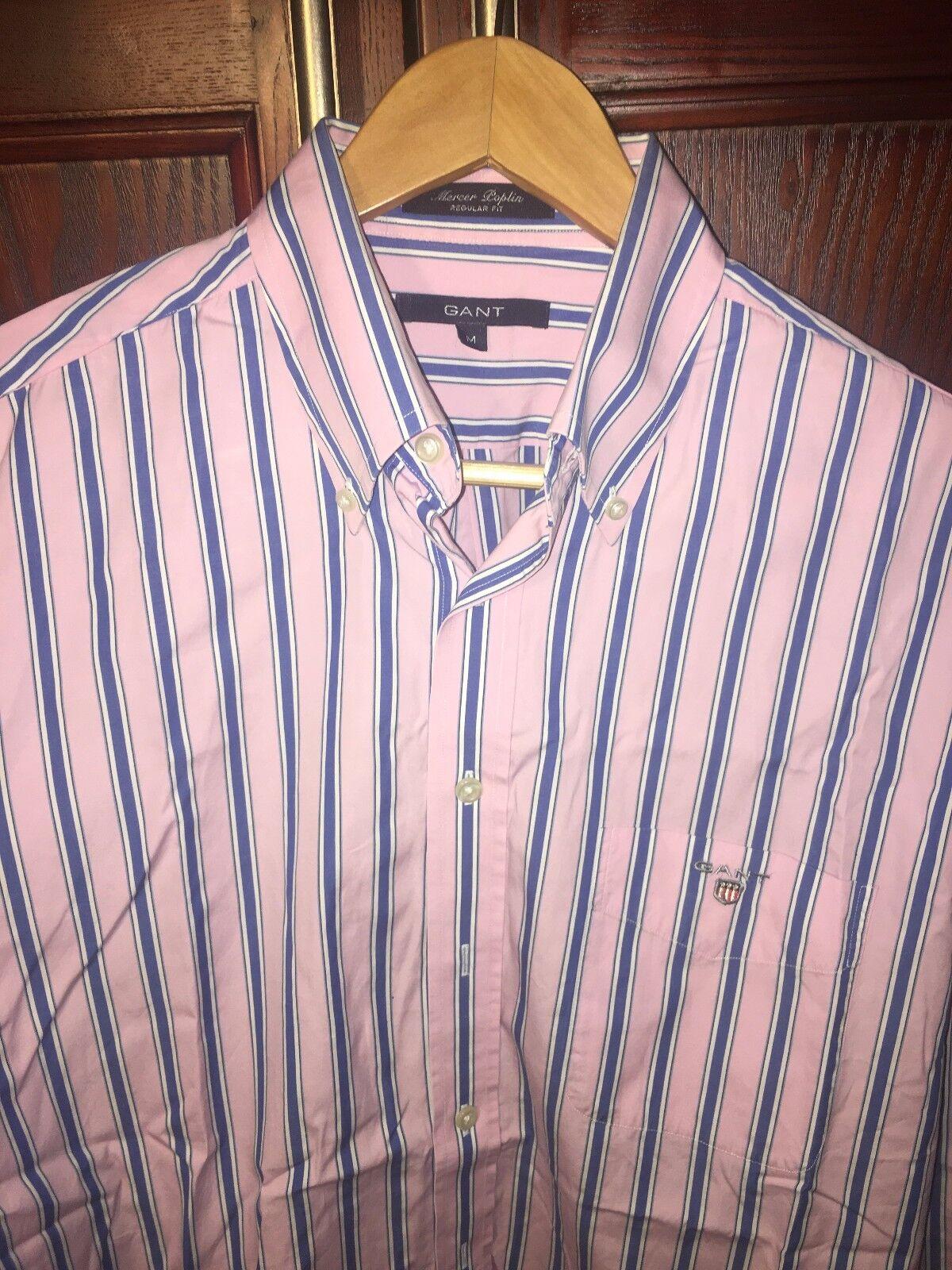 Uomo GANT Camicia A Righe rosa, Medium in ottime condizioni
