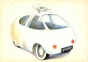 Carte-Postale-Signe-du-ZODIAC-VIERGE-serie-Automobile