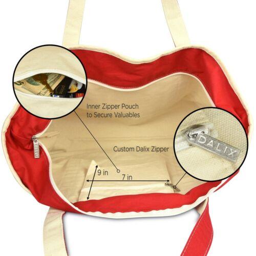 DALIX Striped L-Initial Tote Bag Womens Ballent Letter L