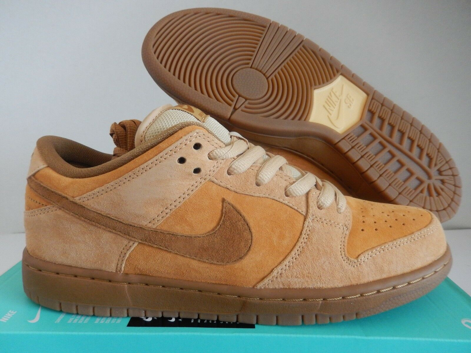 NIKE SB DUNK LOW TRD QS REESE FORBES DUNE-WHEAT-MED BROWN SZ 10 [883232-700]