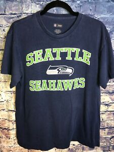 NFL Team Appeal Navy Blue NFL Seattle Seahawks Football T Shirt ~ Size Large🔥🏈