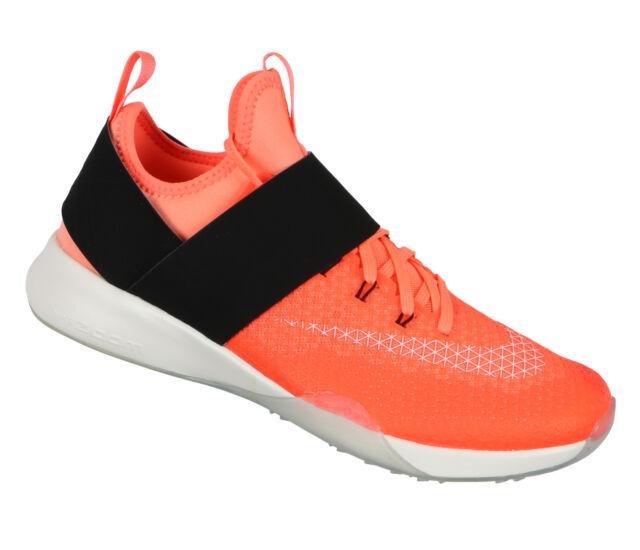 NIKE Women s Air Zoom Strong Training Shoes sz 7.5 Bright Mango White Black 48c73557b