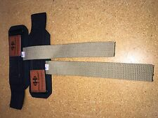 Hypertrophy Haulin Hooks Wrist Support Straps (No Hooks)-Brown **STORE RETURN**