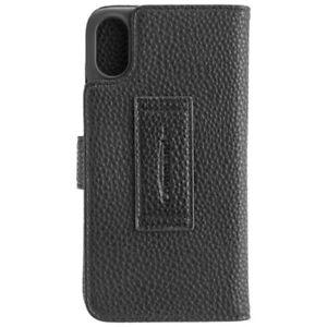PJ-Commander-Book-Case-Elite-schwarz-fur-Apple-iPhone-X-XS-Handyhulle