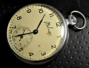 """Molnija"" ~15J  Rare cal.3602  Vintage c.1970's Russian Pocket watch"