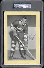"1934-44 Beehive ""Red"" Heron (Toronto Maple Leafs) Autographed/Signed -- PSA/DNA"