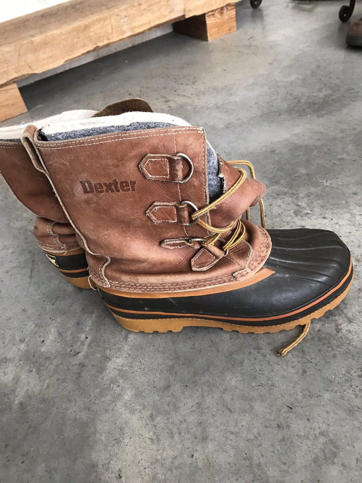 Dexter Mens mens Steel Shank Brown Leather Boots B SZ 7