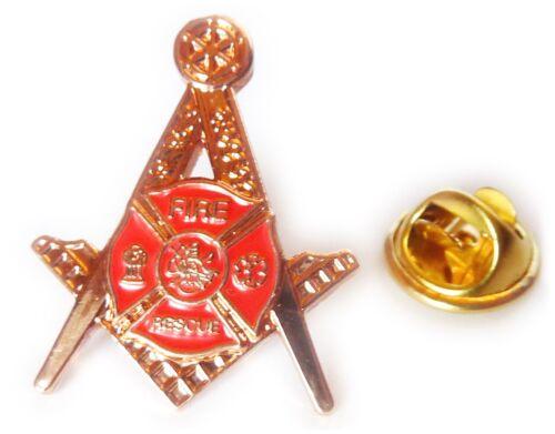 Fire Fighter Fireman Paramedic Rescue Masonic Freemason Hat Jacket Tie Lapel Pin