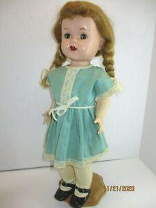 Vintage-1950-039-s-Ideal-Saucy-Walker-Ideal-16-034-Dark-Blond-Braids-W16