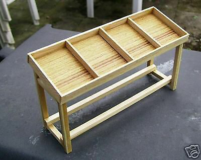 1:12 Scale Pine Display Counter Dolls House Miniature Vegetable Shop Accessory C