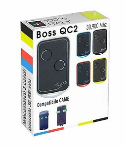Belle Telecomando Radiocomando Boss Compatibile Came Top 302 302a 30.9 Mhz Tasti Verdi