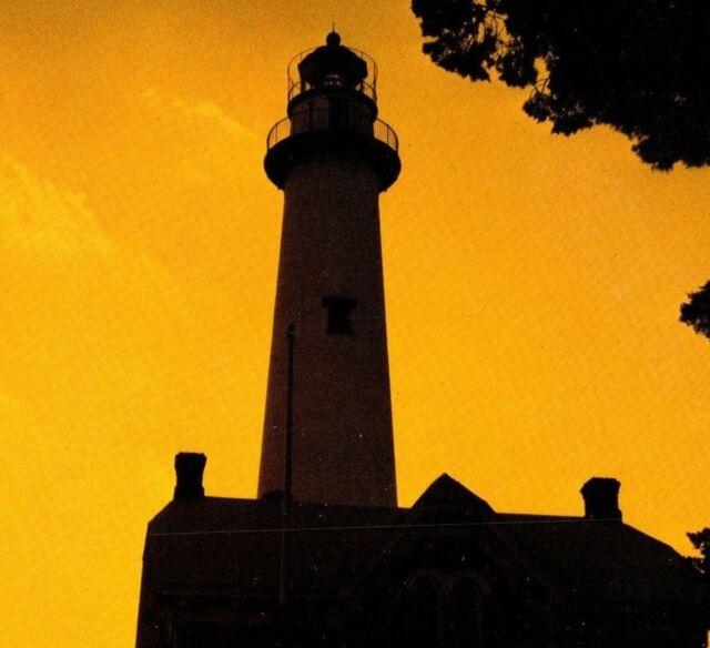 HAUNTED Lighthouse and Museum at St. Simons Island Georgia Light Postcard