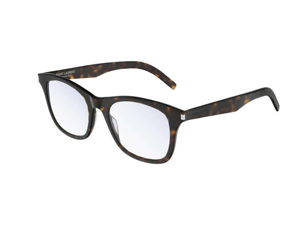 Brand New Saint Laurent Eyeglasses SL 286 SLIM 005 Havana Square Authentic