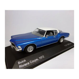 WHITEBOX-WB199-Buick-Riviera-Coupe-metal-blau-weiss-Massstab-1-43-209622-NEU