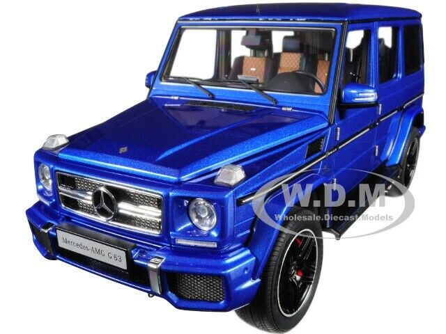 Autoart 1/18 MERCEDES AMG G63 2017 Metallic Blue Figure From Japan 2019