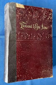 Antique Book 1884 A Thousand And One Gems Of English And American Poetry Poe etc