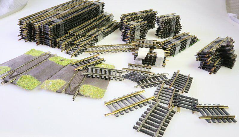 Konvolut ca. 100 H0 Fleischmann Gleise  6001+6002+diverse kurze Gleise