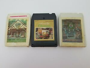 Country-Christmas-8-Track-Tapes-Lot-of-3-Country-Christmas-amp-Country-Style