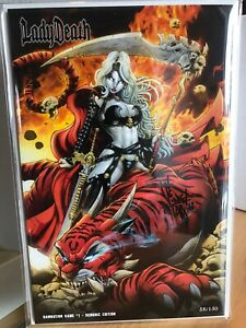LADY-DEATH-DAMNATION-GAME-1-DEMONIC-EDT-58-Of-150-Signe-By-The-Artist