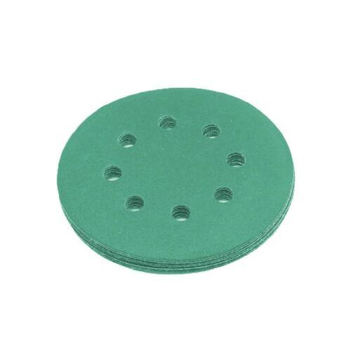 20x meules 125mm Assortiment set p1000 p800 p600 p400 meule ponceuse velcro vert