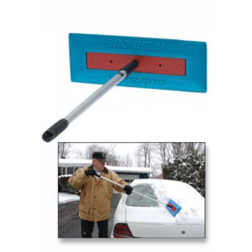 "HOLIDAY GIFT SNO BRUM Snow Broom Rake w// 27/"" 46/"" Telescoping Handle"