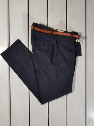 Neu Scotch /& Soda HERREN Hosen Stuart Enge Passform Marineblau Hose mit Gürtel