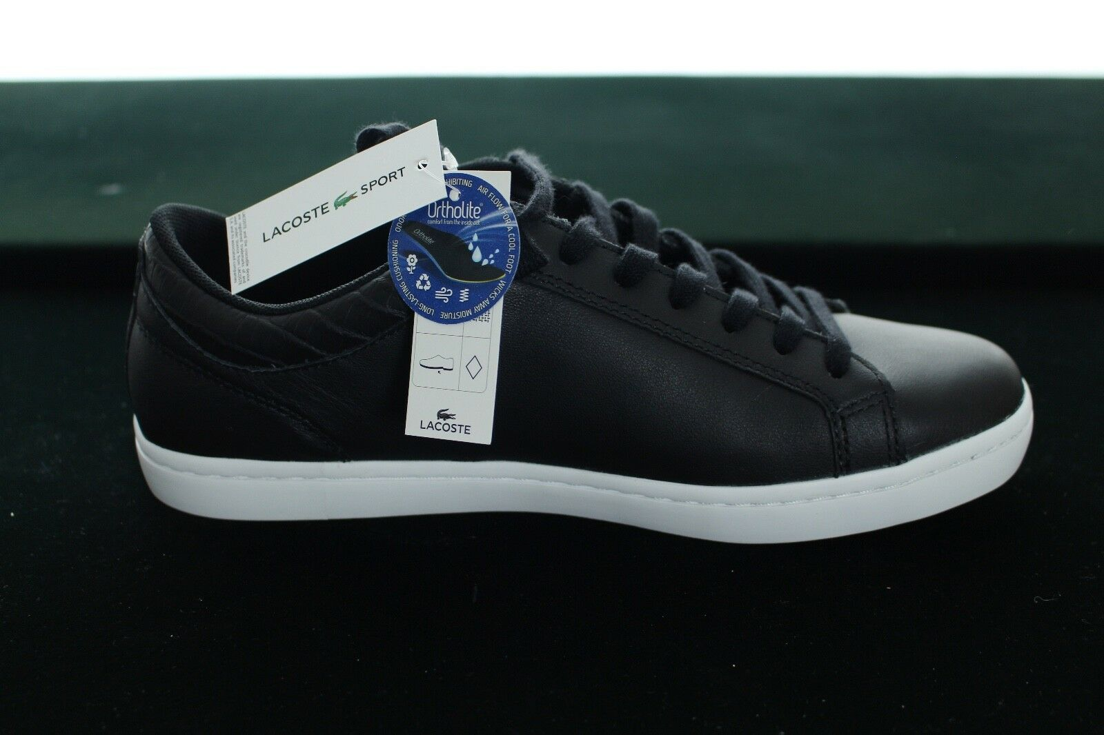 BNWB LACOSTE MEN'S STRAIGHTSET G316 LEATHER 3 SPM LEATHER G316 TRAINERS IN BLACK SIZE UK 6 1e1ec4