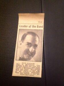 Ephemera-1948-Jazz-News-Alex-Haddow-Band-Leader-Small-Item-M4693