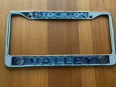 valley volkswagen stockton ca vintage vw license plate frame ebay ebay