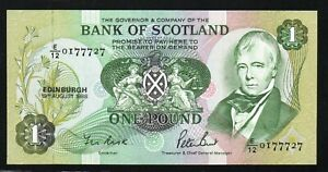 Bank of SCOTLAND £1 in Special Folder 1988 - LAST POUND NOTE - 777 Serial