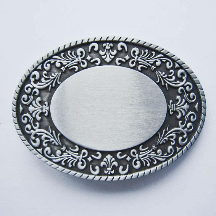 Western Floral Belt Buckle zum gravieren Blank Gravur Gürtelschnalle oval *144