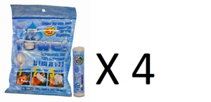 w// Travel Tube That Holds 10 4 Bags Of EZ-Towels Compressed Towel Wipes 200