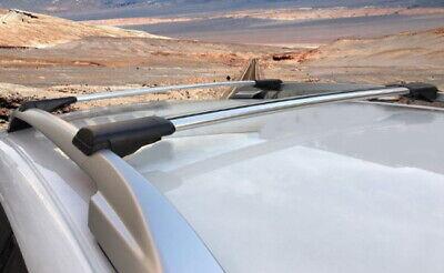 Lockable AeroWingBar Roof Rack Cross Bar Set Fits Dacia Sandero Stepway I