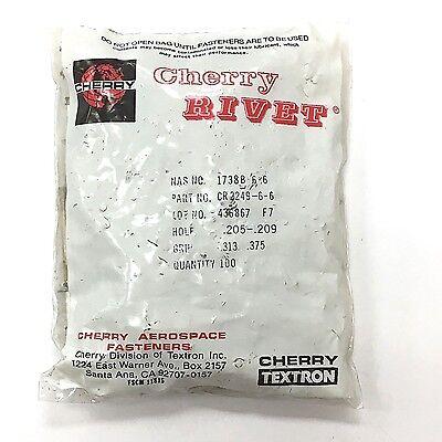 CHERRYLOCK BLIND RIVET CR2249-5-03 UNIVERSAL HEAD Pack of 100 CHERRY TEXTRON