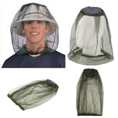 Mosquito Net Protector Face Midge Hat Mesh Insect Travel Bug Head Camping WTTC