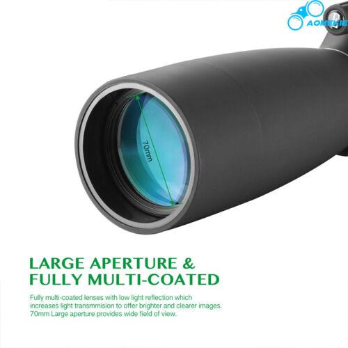 25-75X70 Zoom Spotting Scope With Tripod Phone Adapter Bird Watching Monocular