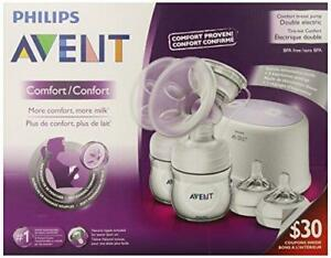 Philips Avent Double Electric Comfort Breast Pump Scf334 12 New