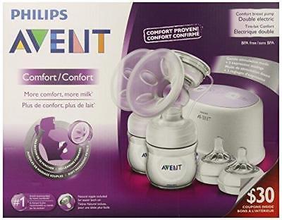 Philips Avent Double Electric Comfort Breast Pump Scf334 12 New