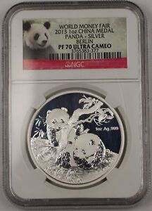 2013-China-Silver-Medal-1-Ozt-999-World-Money-Fair-Berlin-NGC-PF-70-Ultra-Cameo